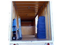 Inside a Thrifty Moving Truck